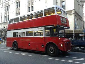 typisch britischer Bus in London