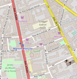 paris-kartenausschnitt –