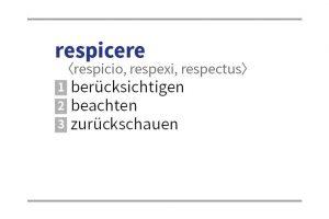 respicere –